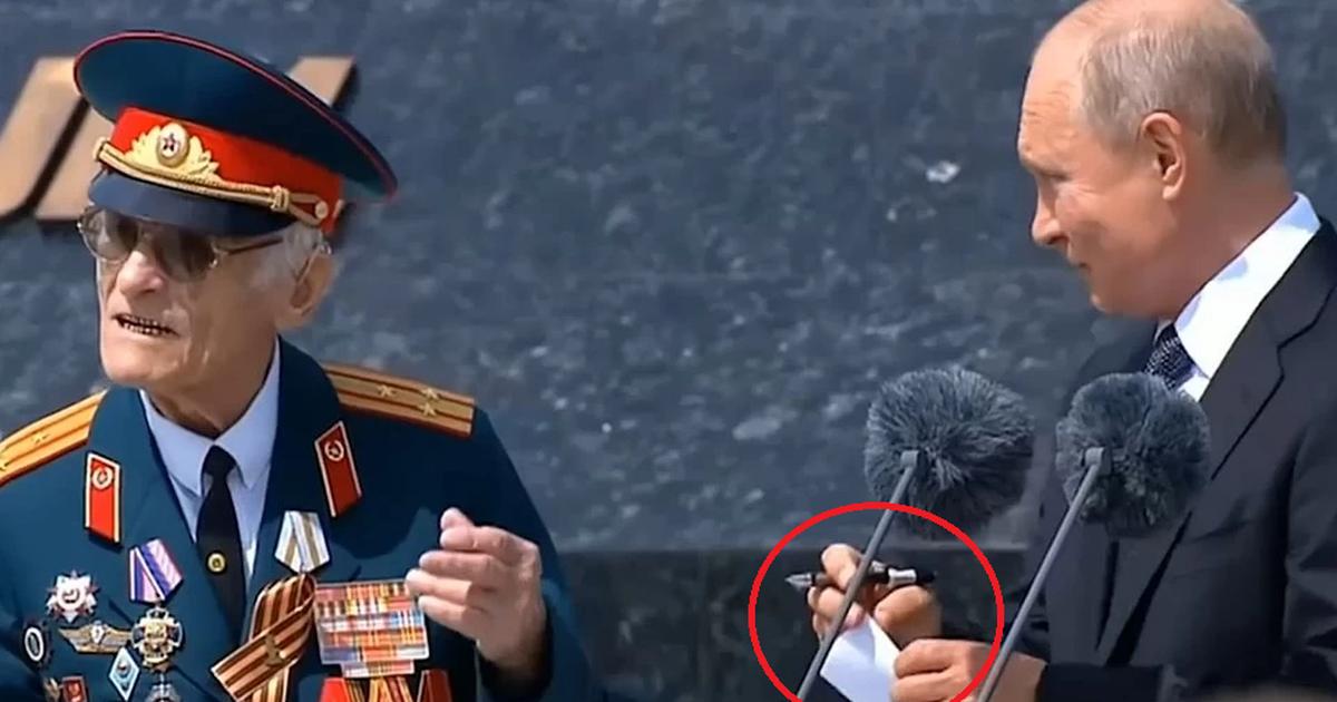 Фото СМИ узнали содержание «тайной записки» Путина ветерану