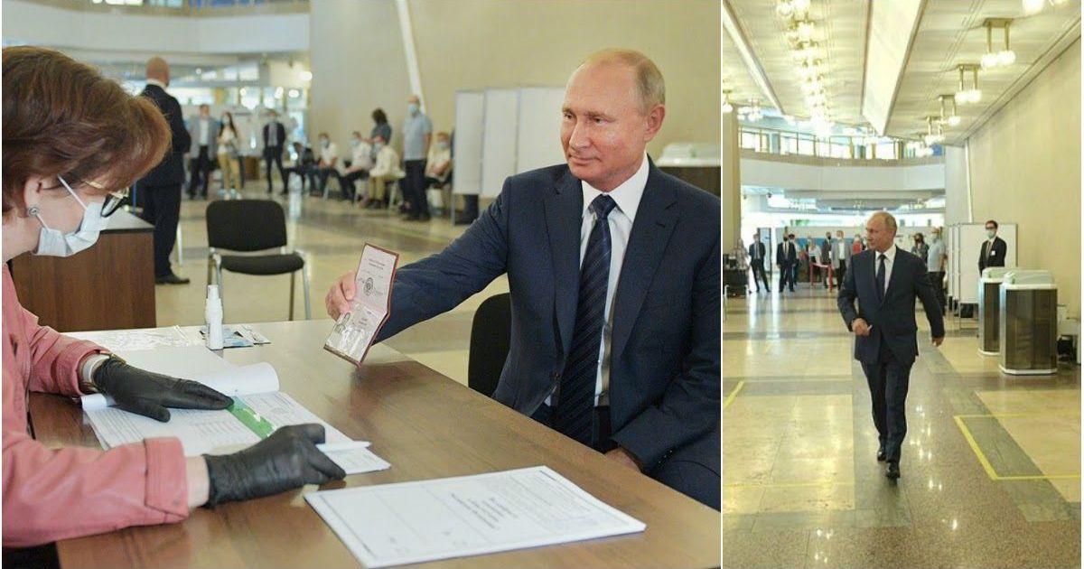 Фото Кремль объяснил, почему Путин отказывается носить маску и перчатки