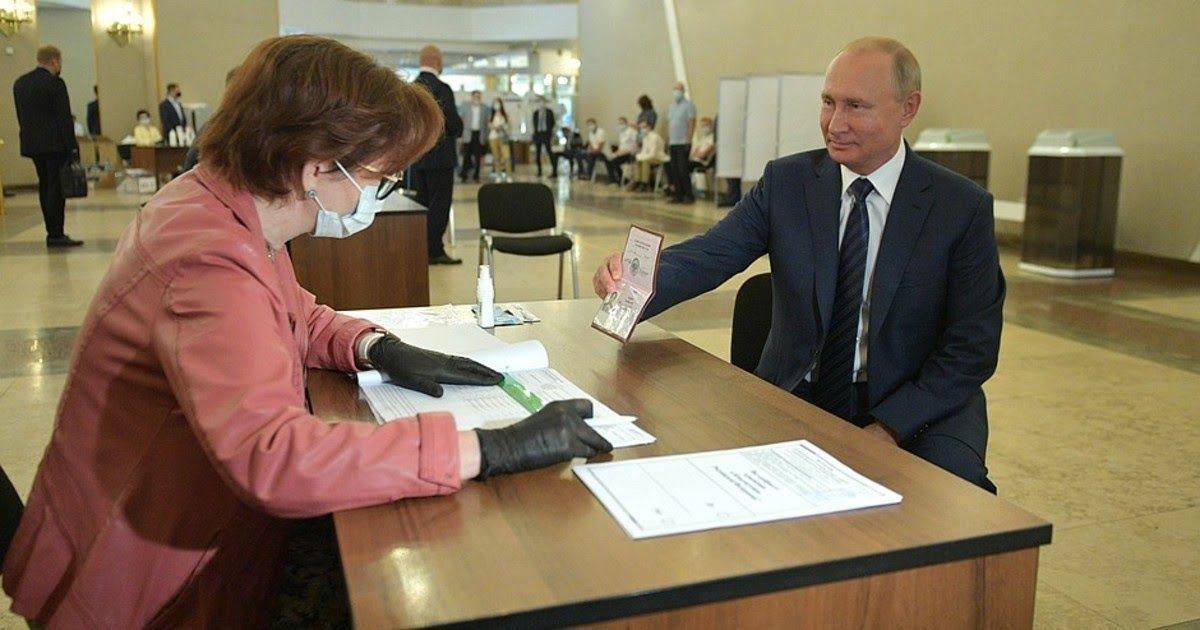Фото Триумф Путина. Поправки одобрили 77,92% избирателей - ЦИК