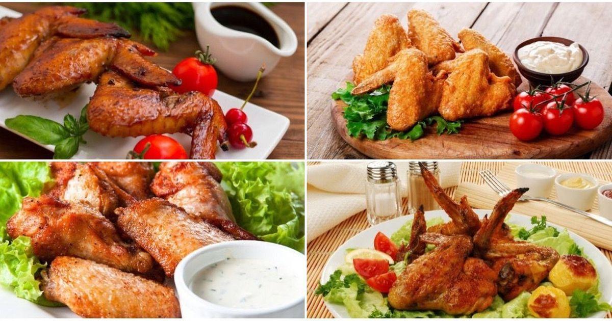 Фото 7 разнообразных рецептов куриных крылышек