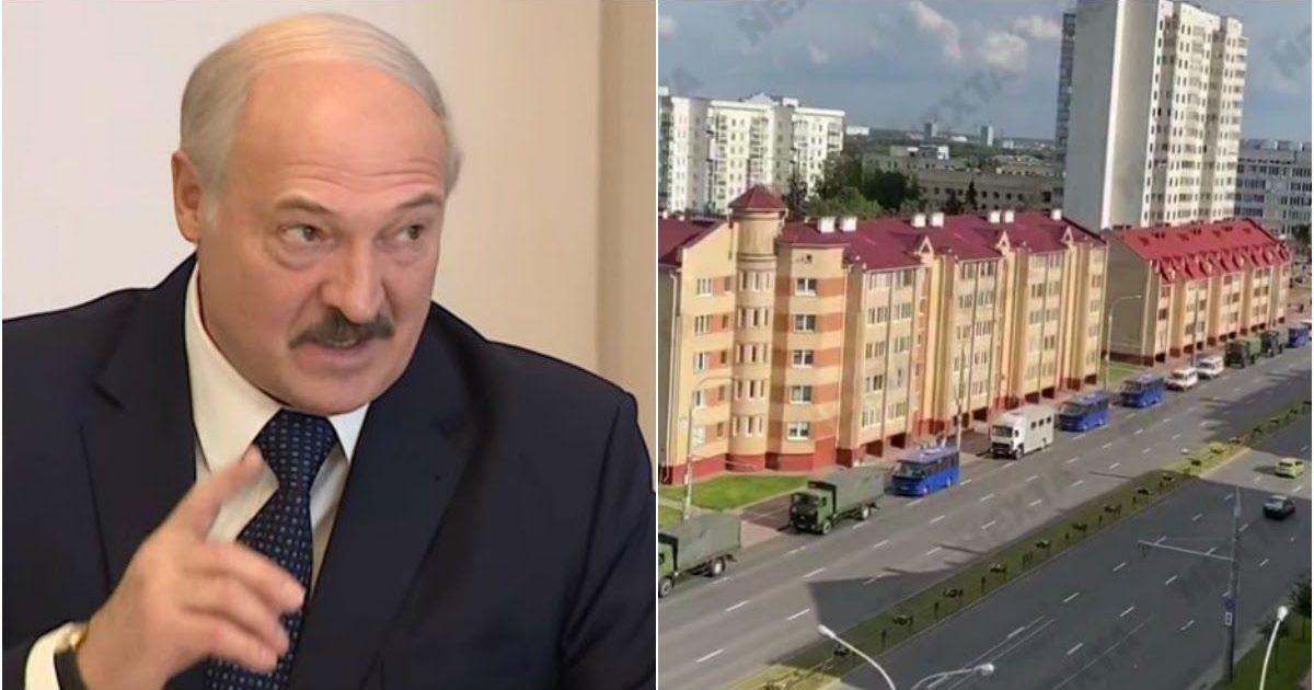 Фото Ситуация накаляется: в Минск ввели армию и военную технику