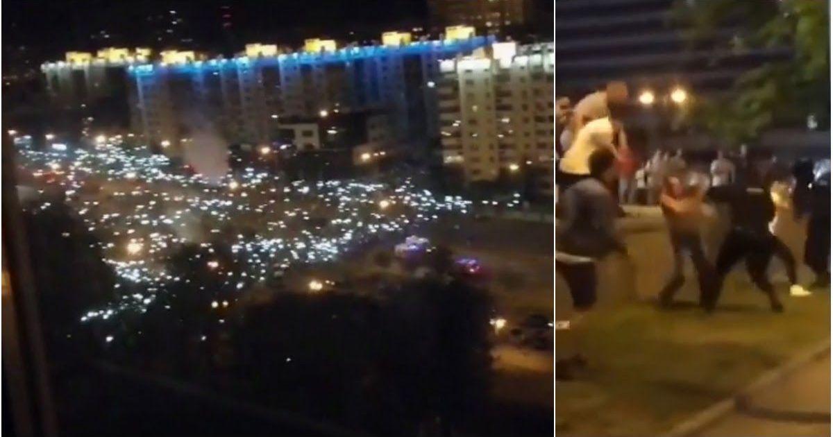 Фото Вышел весь Минск: тысячи человек заняли улицы столицы и строят баррикады