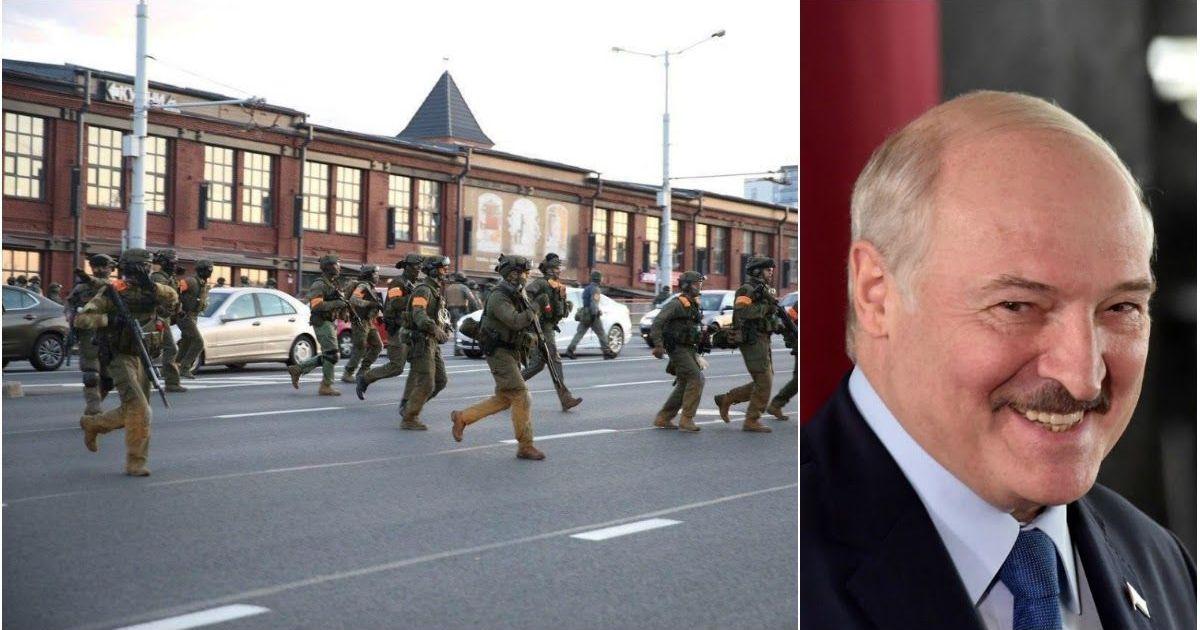 Фото Военный спецназ открыл огонь по протестующим в Минске
