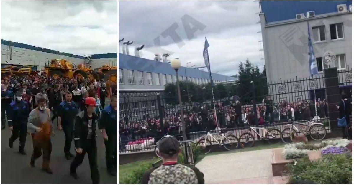 Фото «Уходи!»: в Белоруссии началась общенациональная забастовка