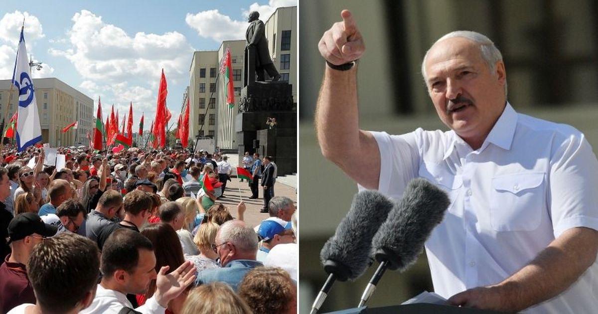 Фото Или я, или гибель. Лукашенко выступил на митинге в свою поддержку