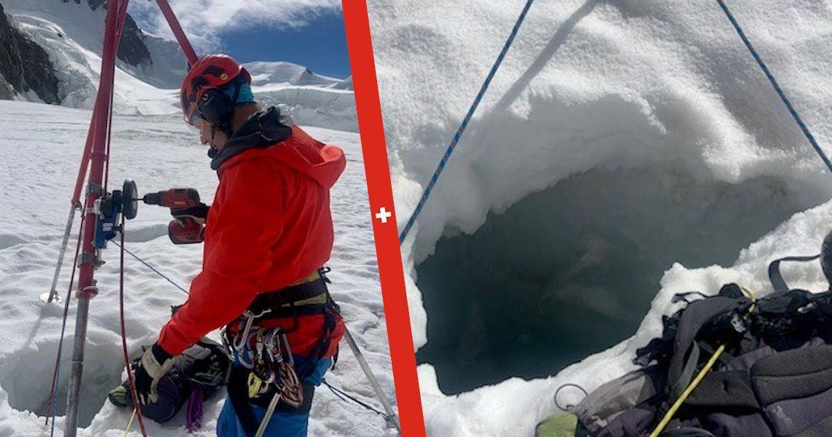 Фото В Альпах спасли россиянку в шортах, два дня просидевшую подо льдом
