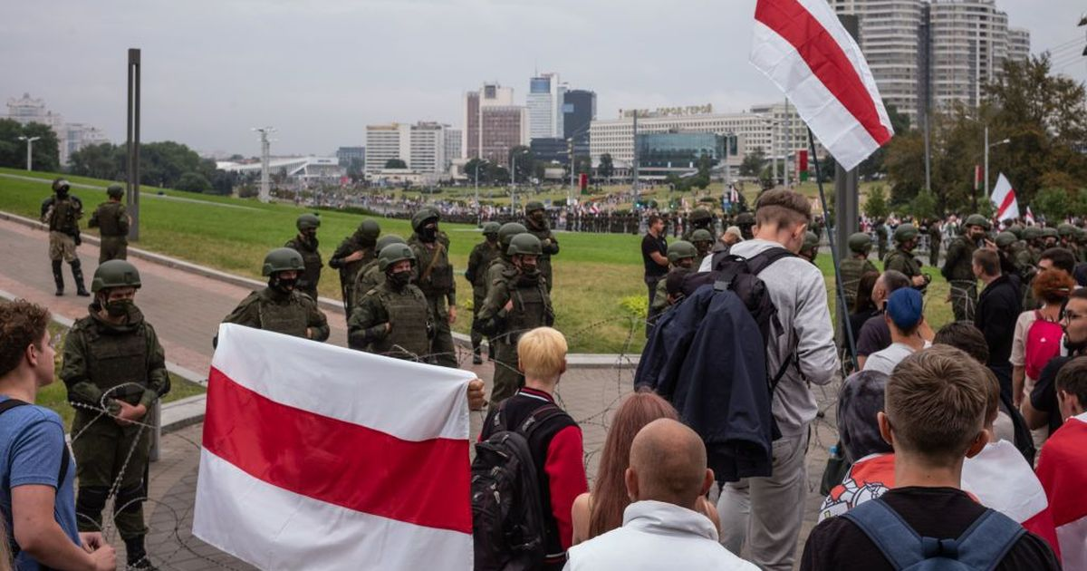 Фото Двое россиян задержаны рядом с акцией протеста в Минске