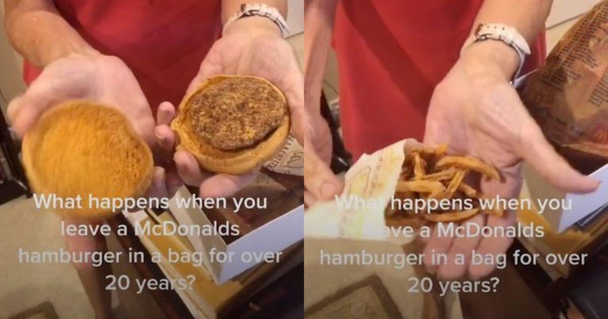 Фото McDonald's ответил на видео с 24-летним бургером