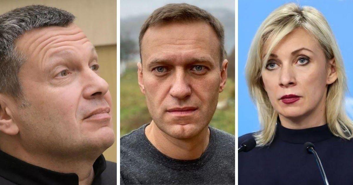 Фото Захарова и Соловьев отреагировали на выход Навального из комы