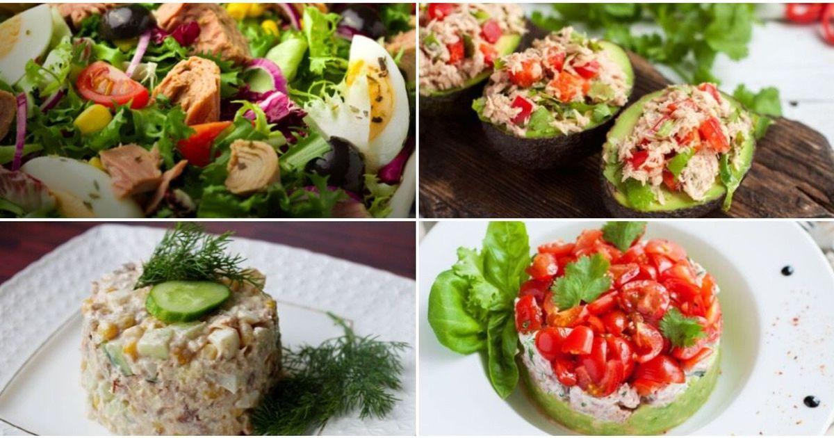 Фото 7 топовых салатов с тунцом