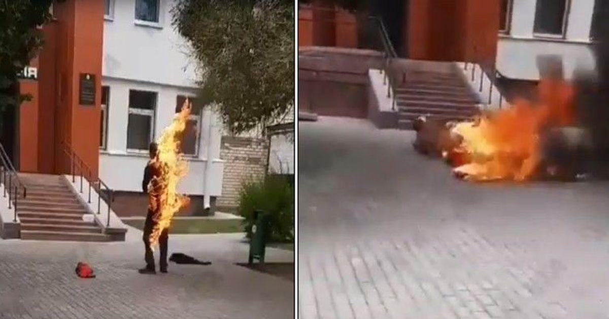 Фото В Белоруссии скончался устроивший самосожжение мужчина