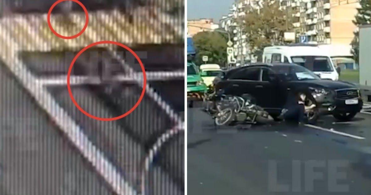 Фото Мотоциклист в Москве снес на переходе ребенка с самокатом