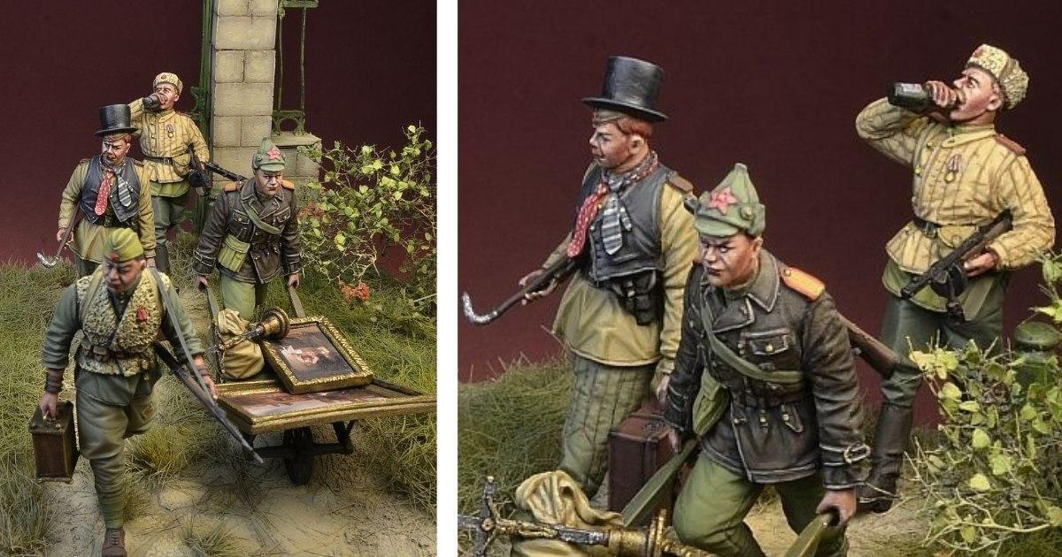 Фото Польская компания выпустила набор солдатиков красноармейцев-мародеров