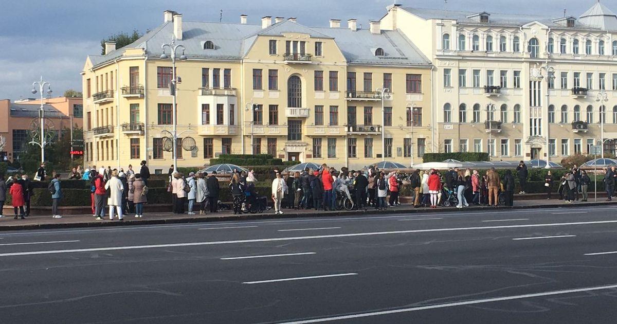 Фото В Белоруссии на протестный марш вышли инвалиды