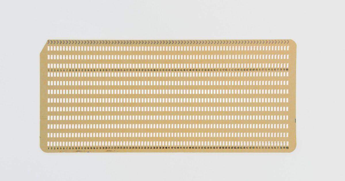 Фото Что такое перфокарта? Как появились и где применяются перфокарты?