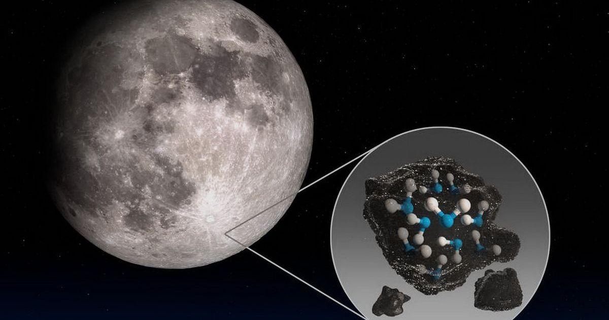 Фото Обсерватория NASA нашла воду на освещаемой поверхности Луны