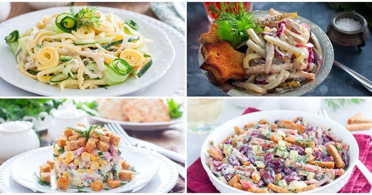 Фото 7 разнообразных салатов на каждый день
