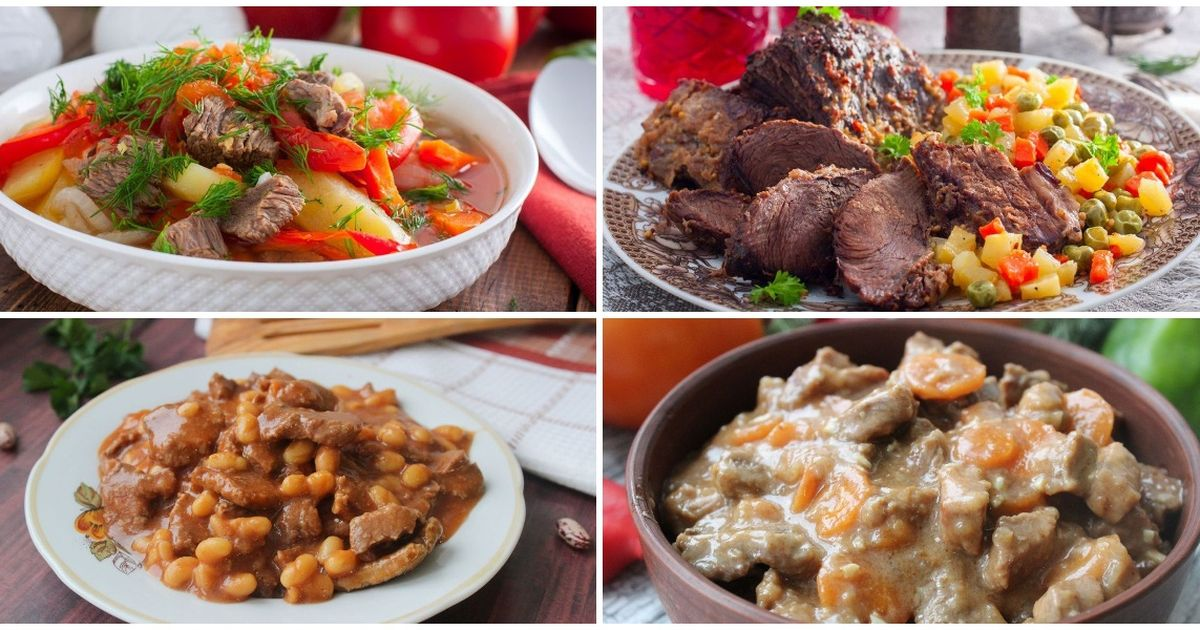 Фото 7 разных рецептов из говядины